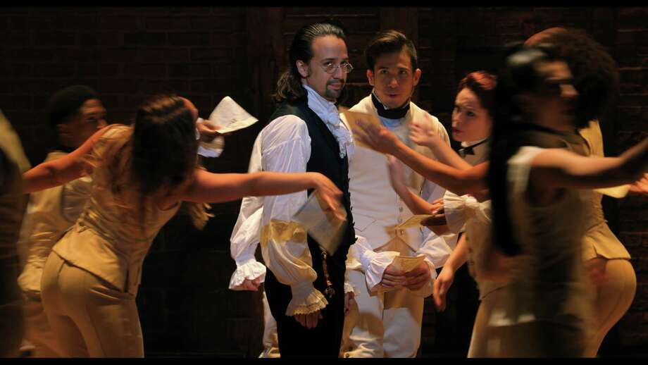 "Lin-Manuel Miranda is Alexander Hamilton in ""Hamilton,"" in the filmed version of the original Broadway production. Photo: Lin-Manuel Miranda And Nevis Productions / © 2020 Lin-Manuel Miranda and Nevis Productions, LLC."