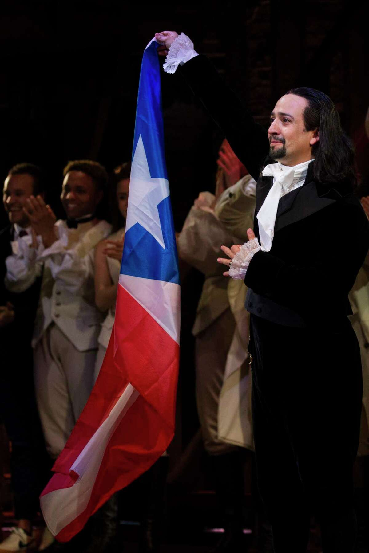 Lin-Manuel Miranda thanks the audience after his performance in