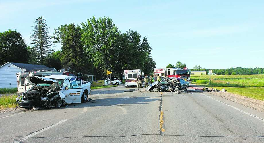 A 33-year-old Paris woman is dead after a two-vehicle car crash Thursday morning in Green Township. Photo: Courtesy Photo/Mecosta County Sheriff's Office