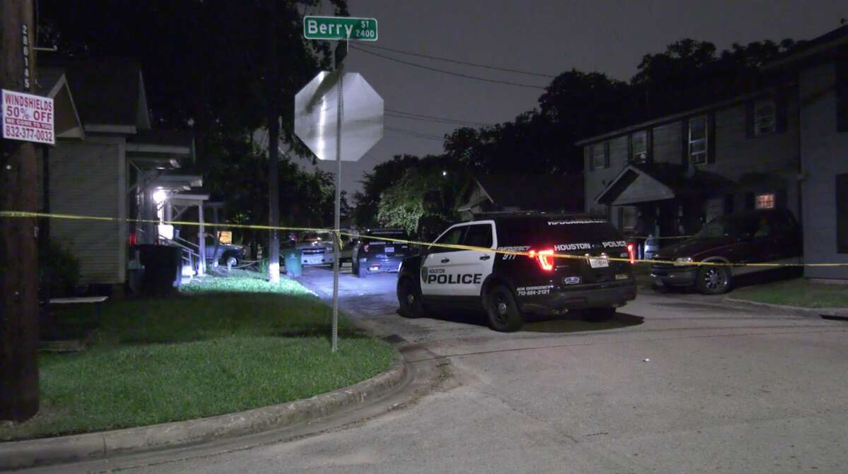 Houston police investigate a deadly shooting in the 3600 block of St. Charles Street on Friday, June 26, 2020.