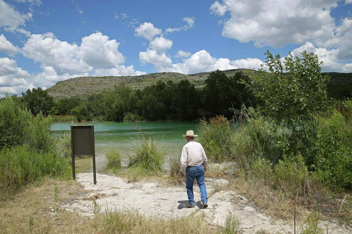 Dell Dickinson, 76, checks out the Mile 20 Paddler Camp on the Devils River. The camp is on his 7,000-acre Skyline Ranch in Val Verde County north of Comstock. In partnership with Texas Parks and Wildlife, the camp was set up to avoid trespassers on his property that has 4.5 miles of riverfront.