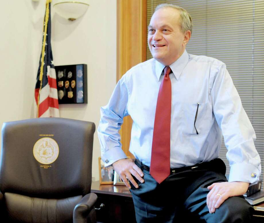 Mayor John DeStefano Jr. in his office at New Haven City Hall in 2013. Photo: Peter Hvizdak / Hearst Connecticut Media / ©Peter Hvizdak /  New Haven Register