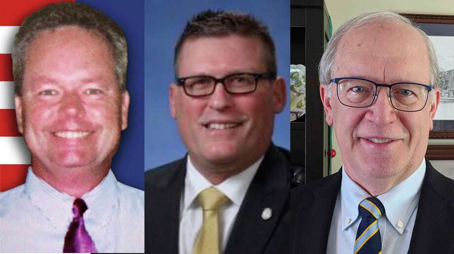 Randall Doyle, incumbent Roger Hauck, and John Zang are running for the 99th District state House seat. Photo: Compiled Image