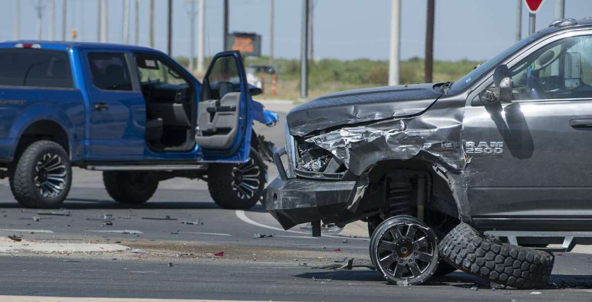 FILE PHOTO: DPS officers, with the help of Midland police and Sheriff deputies, investigate a one vehicle rollover and two car crash 06/26/2020 at the Thomason and Loop 250 intersection.