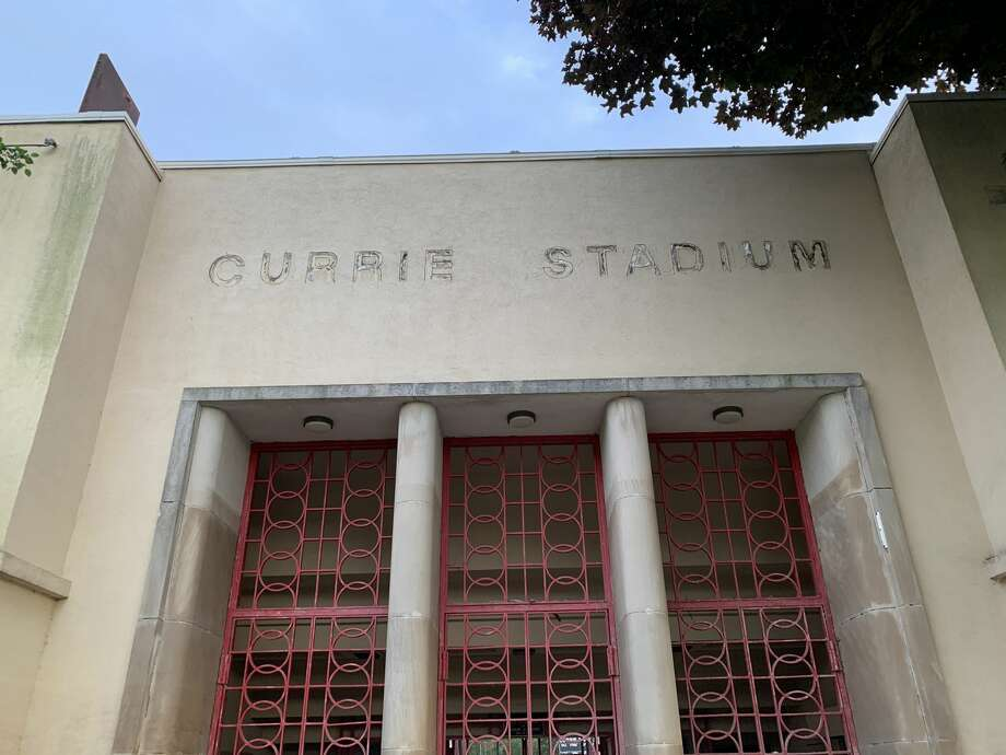Images of Currie Stadium on Thursday, June 25, 2020 show the considerable deterioration from age and years of perennial flooding. Photo: Fred Kelly/fred.kelly@mdn.net