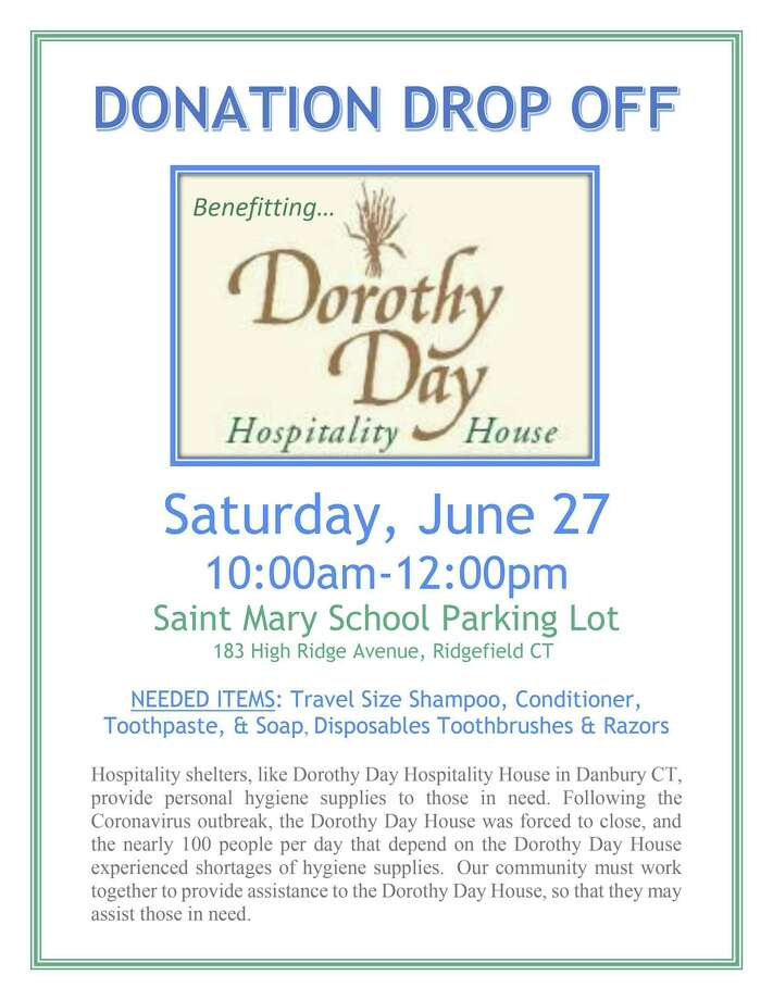 Drop off personal hygiene donations for the Dorothy Day Hospitality House on Saturday, June 27, from 10 a.m.-noon at St. Mary School in Ridgefield. Photo: Contributed Photo