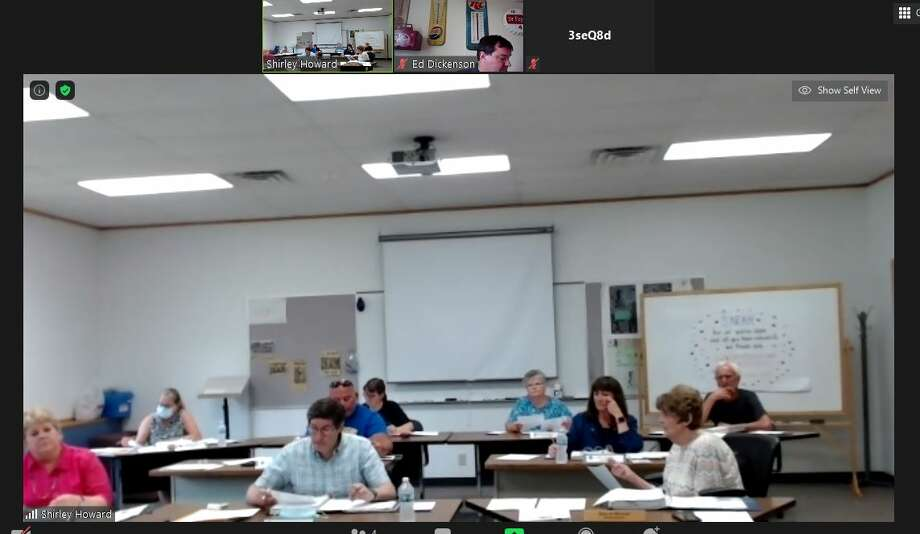 The Evart Board of Education met Monday for its annual budget hearing. The board also discussed virtual learning opportunities for next year. Photo: Photo Courtesy Of Zoom