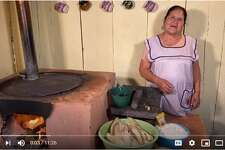 Doña Angela uses traditional Mexican cookware throughout her videos such as clay pots, a comal (griddle), and a molcajete, a stone mortar and pestle used to grind various foods. All this while donning the most adorable aprons,