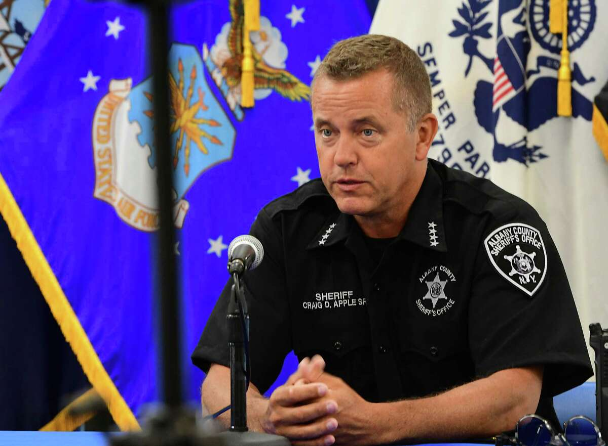 Albany County Sheriff Craig Apple, Sr. speaks during Albany County Executive Daniel McCoy's press briefing on Friday, June 26, 2020 in Albany, N.Y. (Lori Van Buren/Times Union)