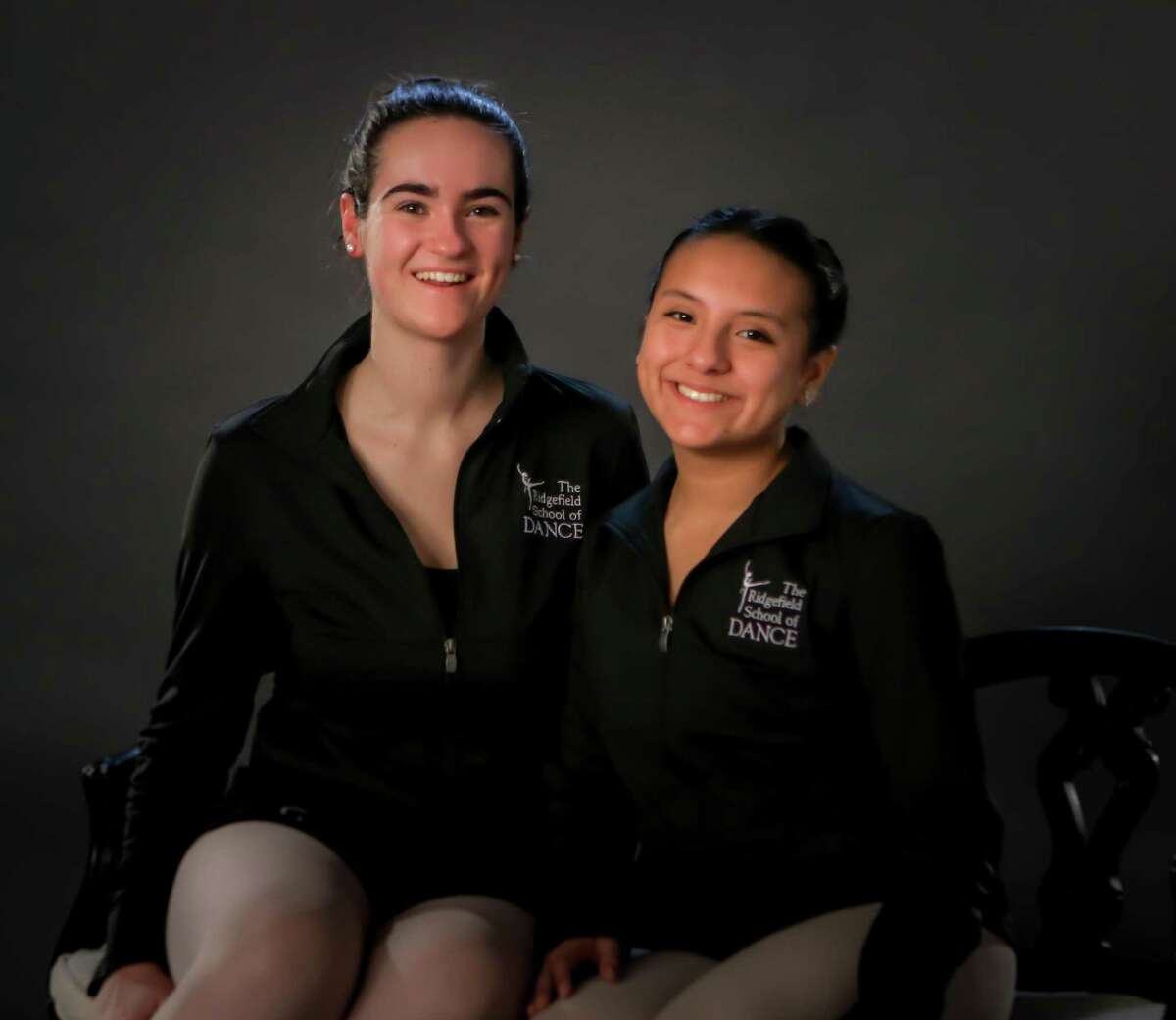 Ridgefield School of Dance Ballet Company members RHS senior Lily Meyler and Brewster High School senior Sabrina Pacurucu.