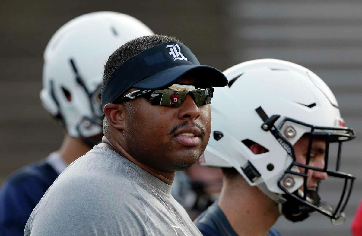Rice offensive coordinator Jerry Mack was head coach at North Carolina Central before coming to Houston to work with Mike Bloomgren.