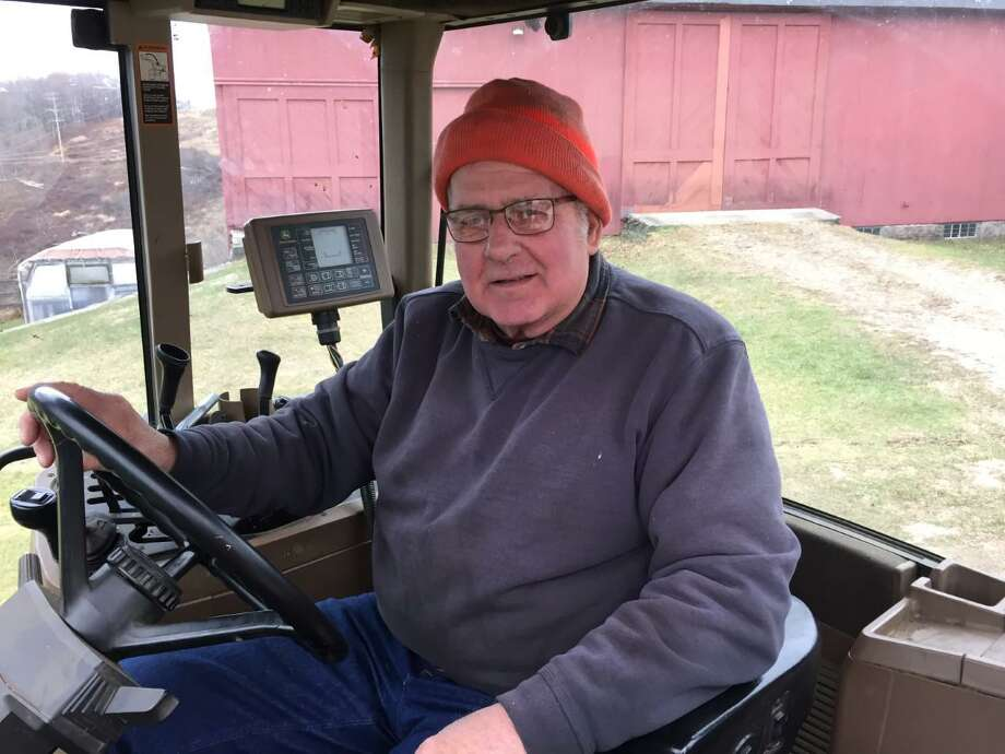 Connecticut Farmland Trust recently announced the preservation of Kuss Farm in Bethlehem and Woodbury. Above, Dick Kuss, who owns the farm with his wife Peggy Ann. Photo: Connecticut Farmland Trust / Contributed Photo