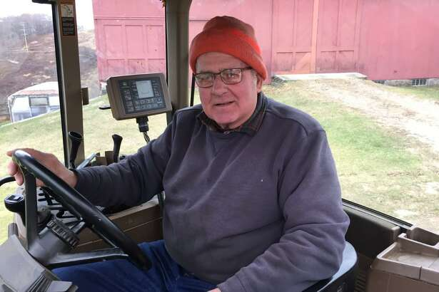 Connecticut Farmland Trust recently announced the preservation of Kuss Farm in Bethlehem and Woodbury. Above, Dick Kuss, who owns the farm with his wife Peggy Ann.