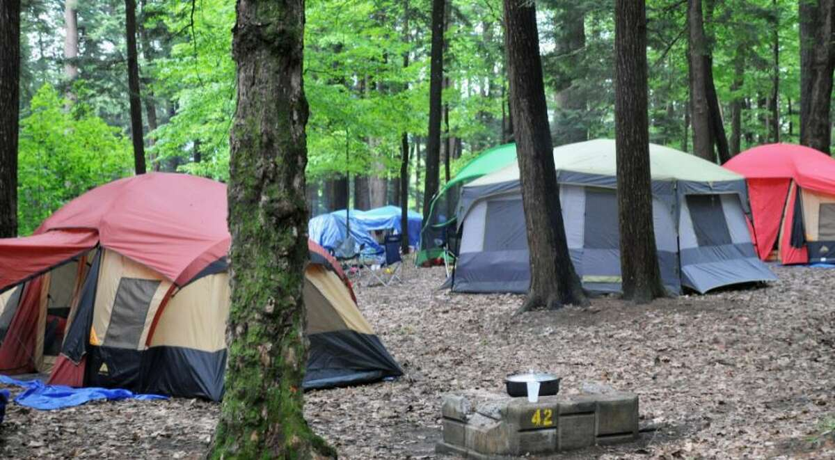 ents set up at Hearthstone Point Campground on Lake George Saturday afternoon May 28, 2011.