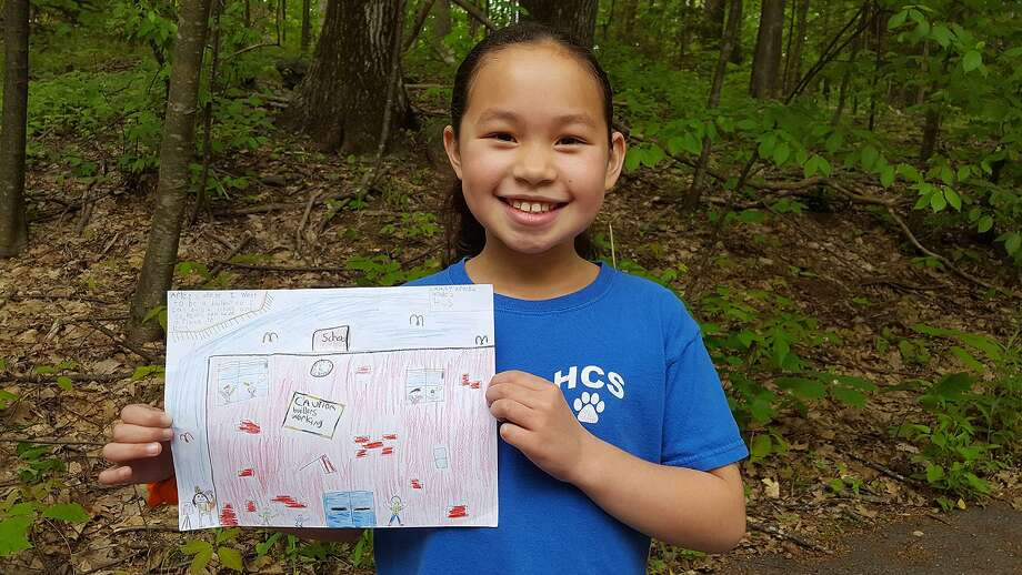 Lainey Aranha, Burlington, won an award for her winning participation in the CHETDream Big! Competition, which asks kindergarteners through third graders to share artwork depicting what they want to do after they go to college. Photo: CHET / Contributed Photo