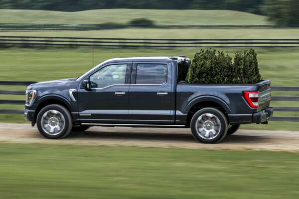 Ford said the 2021 F-150s with the available 3.5-liter PowerBoost hybrid powertrain will have a range of about 700 miles on a tank of gas.