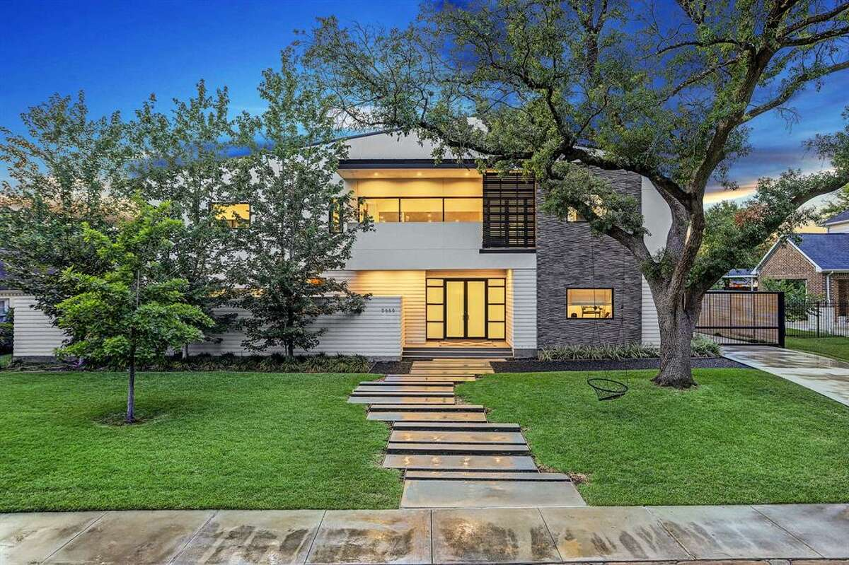 Located at 5658 Terwillinger Way in the Galleria area, this modern estate was just listed at $3,070,000.