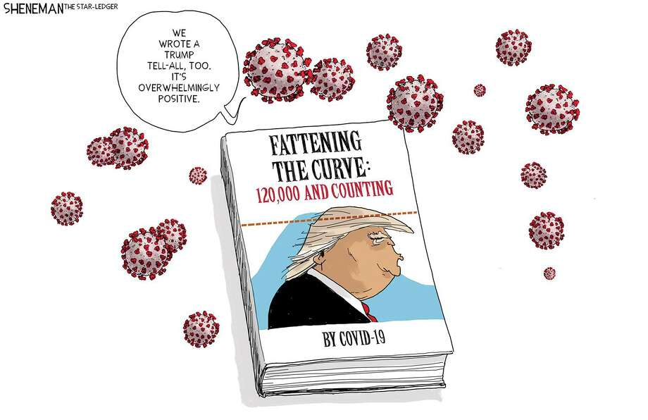Editorial cartoons often play off multiple new items — in this case the coronavirus pandemic and John Bolton's new book about President Trump. Photo: / Tribune Content Agency