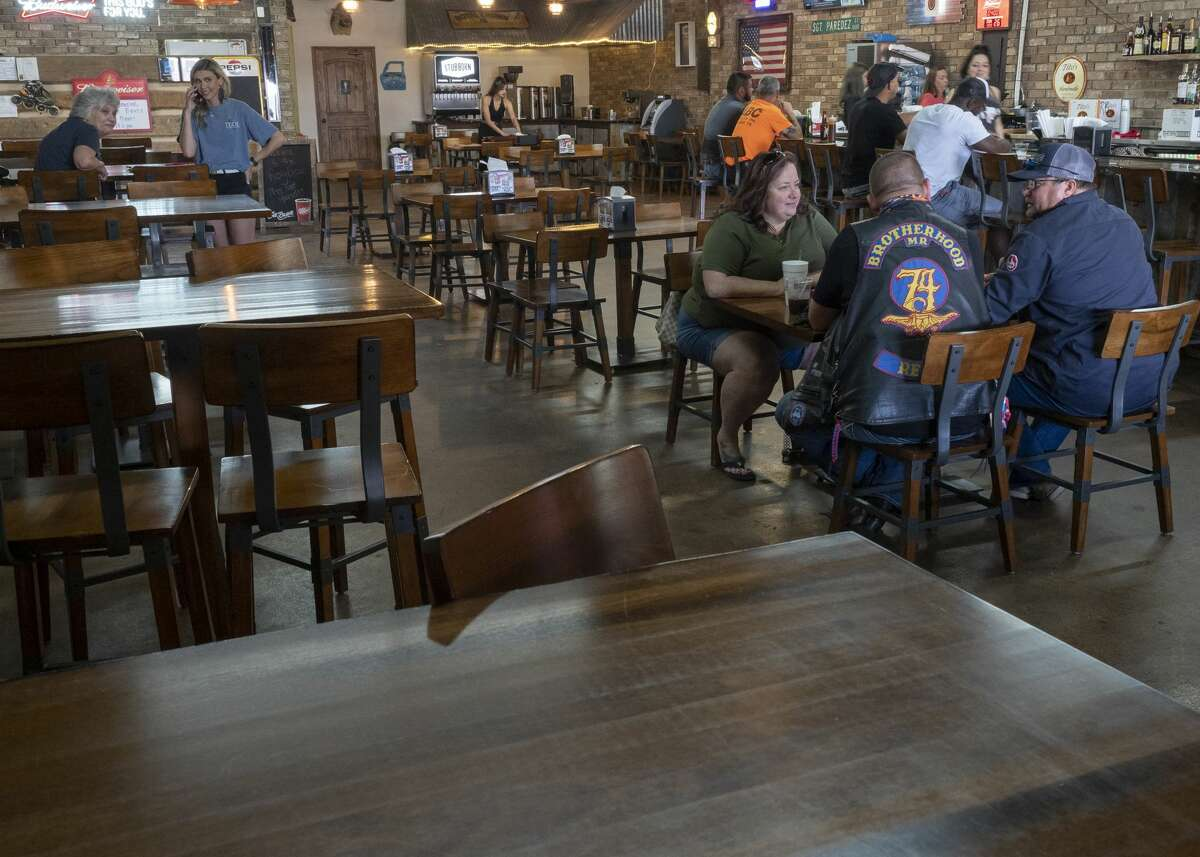 The Rusty Bucket BBQ and Tavern, 3000 block of W Industrial Ave, have outdoor and indoor seating spaced out 06/26/2020 afternoon. Tim Fischer/Reporter-Telegram