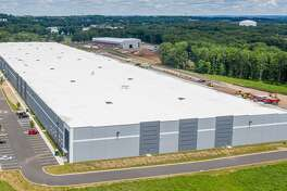 An aerial view of the 403,000-square-foot facility Amazon will soon occupy in Cromwell on County Line Drive