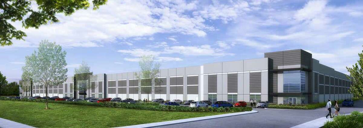 An engineer's rendering depicts the 403,000-square-foot facility Amazon will soon occupy in Cromwell.