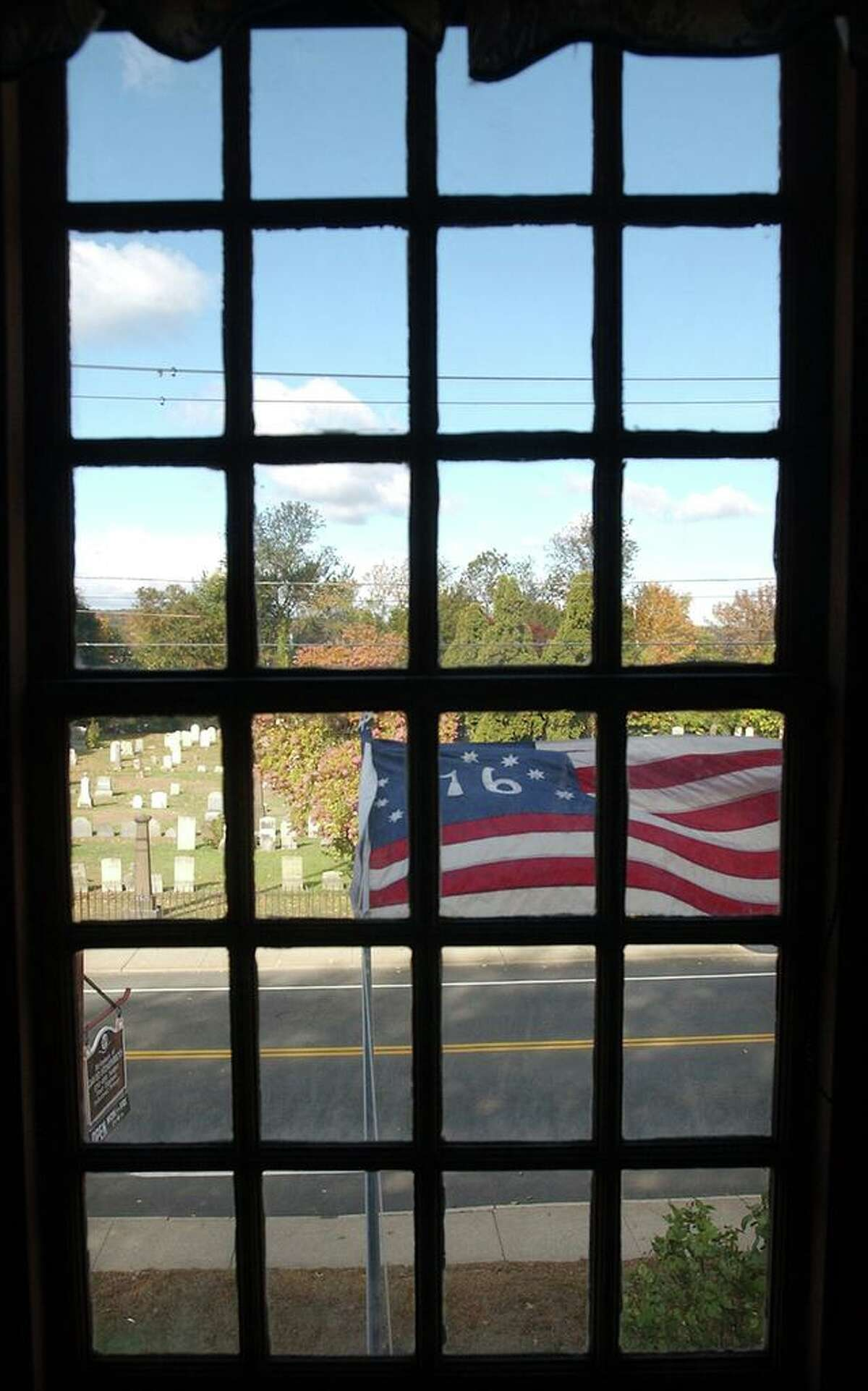 In this file photo, a view from the upstairs window of the Gen. David Humpreys House. The house, which is owned by and serves as headquarters for the Derby Historical Society, was listed on the National Register of Historic Places in 1972. It was restored to its mid-18th century appearance over the years, but officials say a new roof and other repairs are in order. According to Executive Director Daniel L. Bosques, repairs to the attic floor and other areas that were rotting had been made. But work to the rear and south sides of the two-story structure needs to be completed, and the house is also in need of a new roof. Because of the coronavirus pandemic, Bosques said