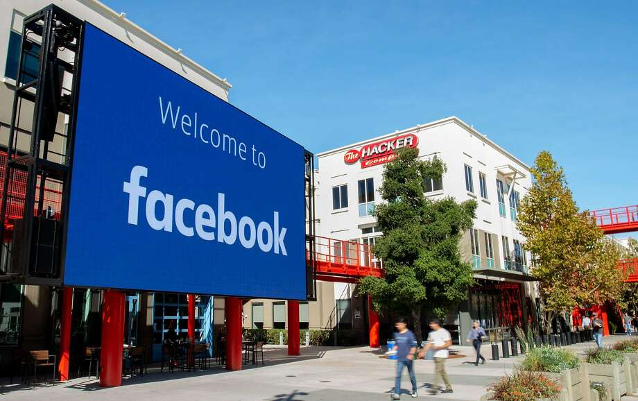 (FILES) In this file photo taken on October 23, 2019 A giant digital sign is seen at Facebook's corporate headquarters campus in Menlo Park, California. Photo: Josh Edelson, AFP Via Getty Images