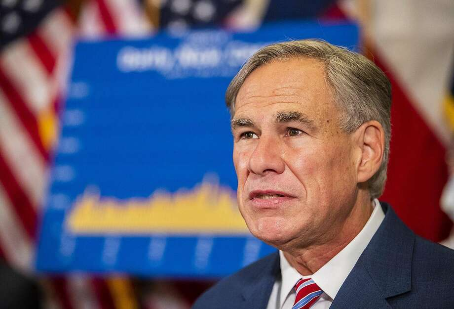 Texas Gov. Greg Abbott on Monday, June 22, 2020. Abbott on Friday closed bars, ordered restaurants to return to half capacity, and took other measures against the state's rise in coronavirus infections. (Ricardo B. Brazziell/Austin American-Statesman/TNS) Photo: Ricardo B. Brazziell, TNS