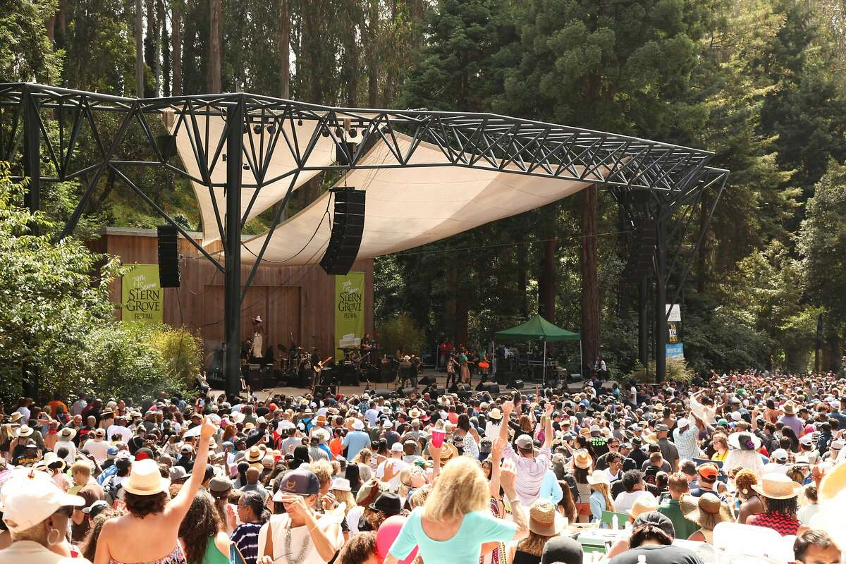 The concert meadow in Stern Grove.