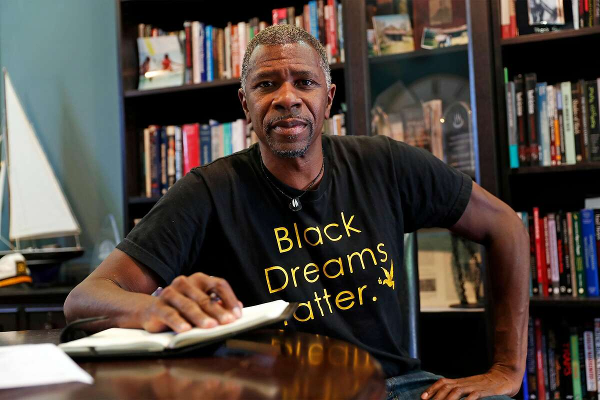 Shawn Ginwright, professor of Africana Studies at San Francisco State, at his home in Oakland, Calif., on Thursday, June 25, 2020. San Francisco State had the first College of Ethnic Studies in the country.