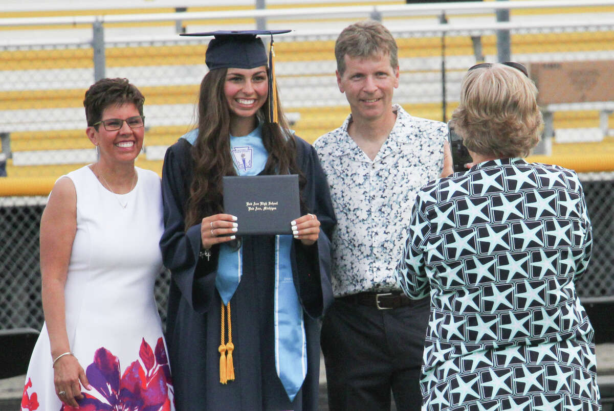 Bad Axe High School's class of 2020 picked up their diplomas Friday during the Hatchets' graduation ceremony. The commencement featured speeches by Principal Kurt Dennis, Superintendent Greg Newland, valedictorian Laken Chapin and salutatorian Armando Motz.