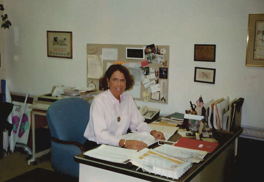 Fellhauer works at her desk in 1978. Photo: Photo Provided By Jan Fellhauer