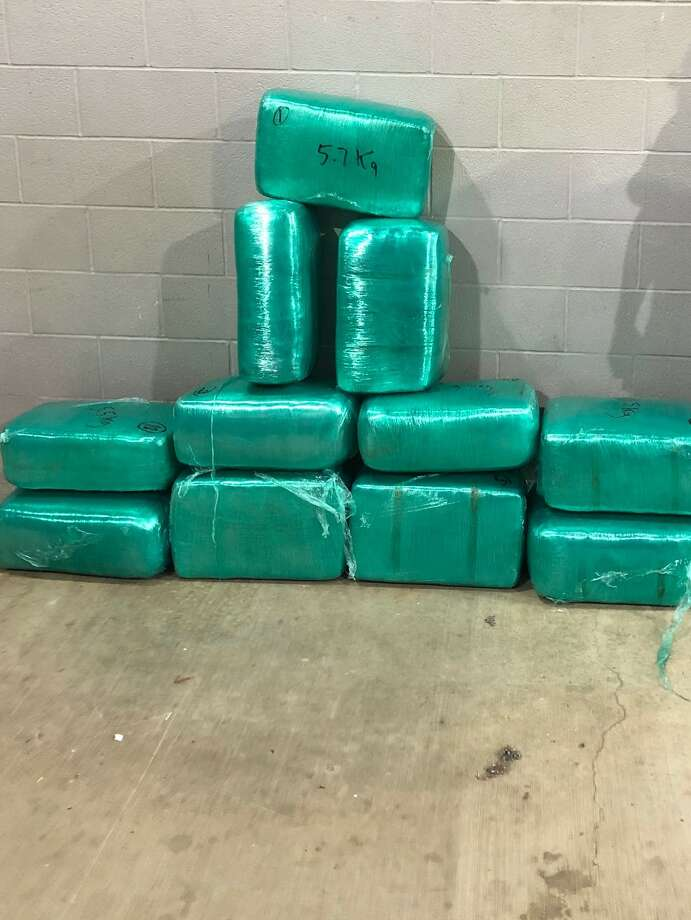 U.S. Border Patrol agents seized more than 233 pounds of marijuana at the checkpoint on Interstate 35, authorities said. Photo: Courtesy