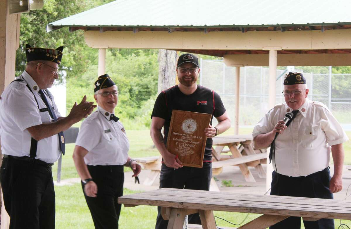 Barryton businesses were recognized Friday evening by the Gerald Pitts American Legion Post No. 473. During the event, 12 area businesses were given handmade plaques for the help and support they have given the post in the past.