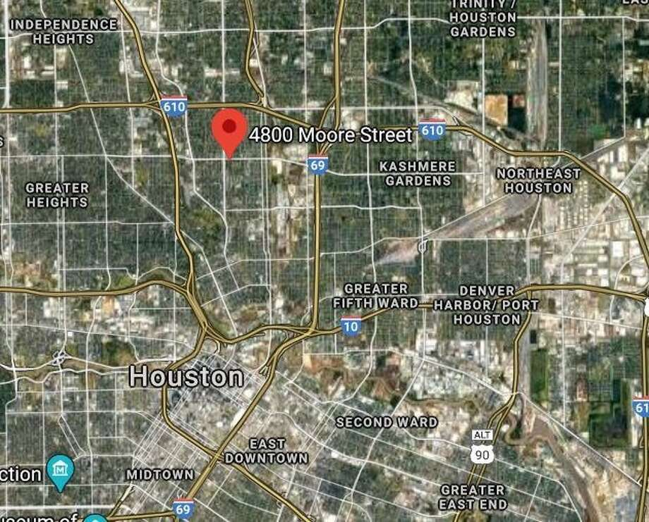 Police say a burnt body was found in the 4800 block of Moore Street on Saturday morning. Photo: Google Maps