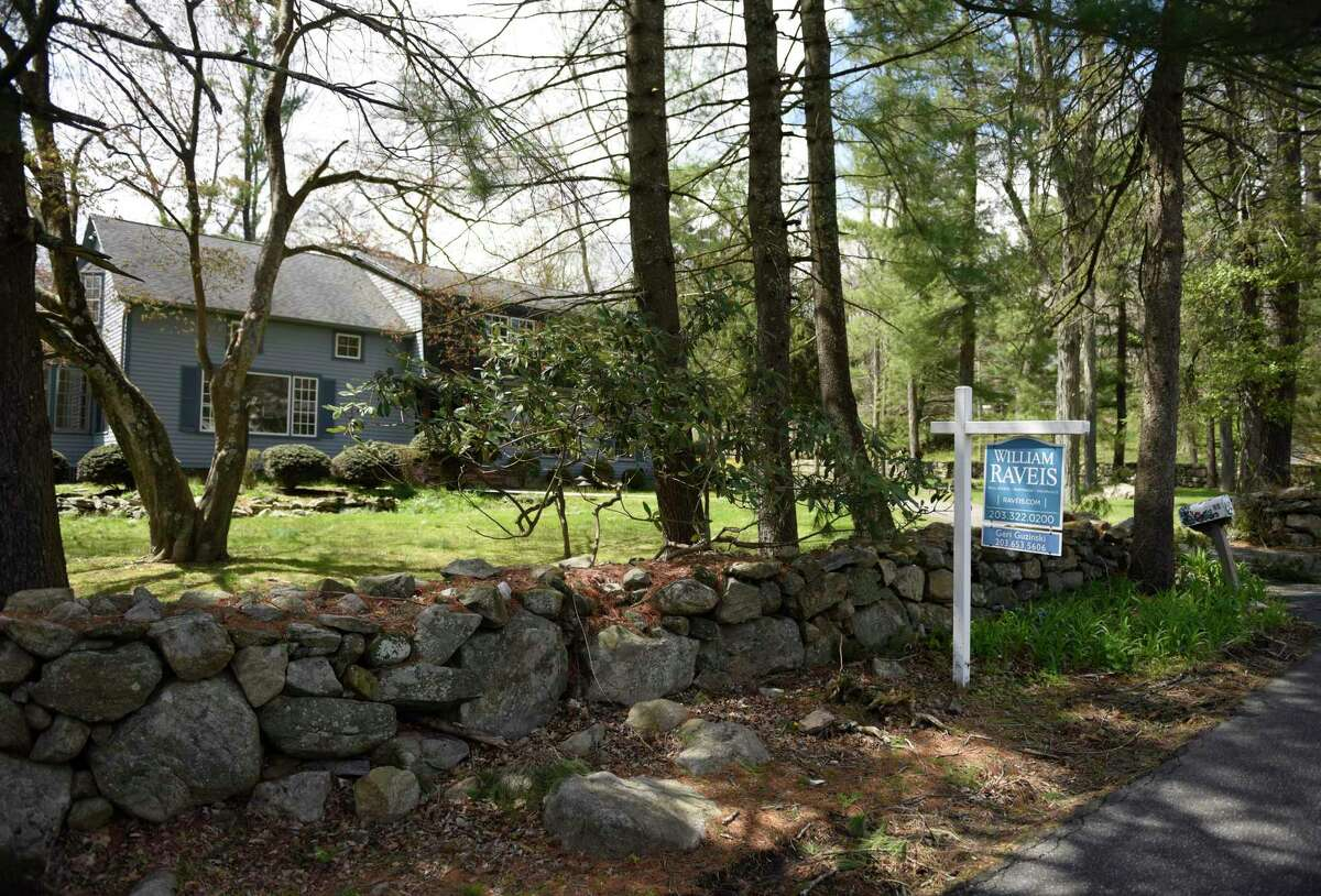 A home on Briar Brae Road is for sale in North Stamford, Conn. Wednesday, April 22, 2020. North Stamford has been a tough real estate market for years, but folks looking for more space and lower prices are beginning to look to North Stamford as opposed to the dense, fast-growing downtown areas.