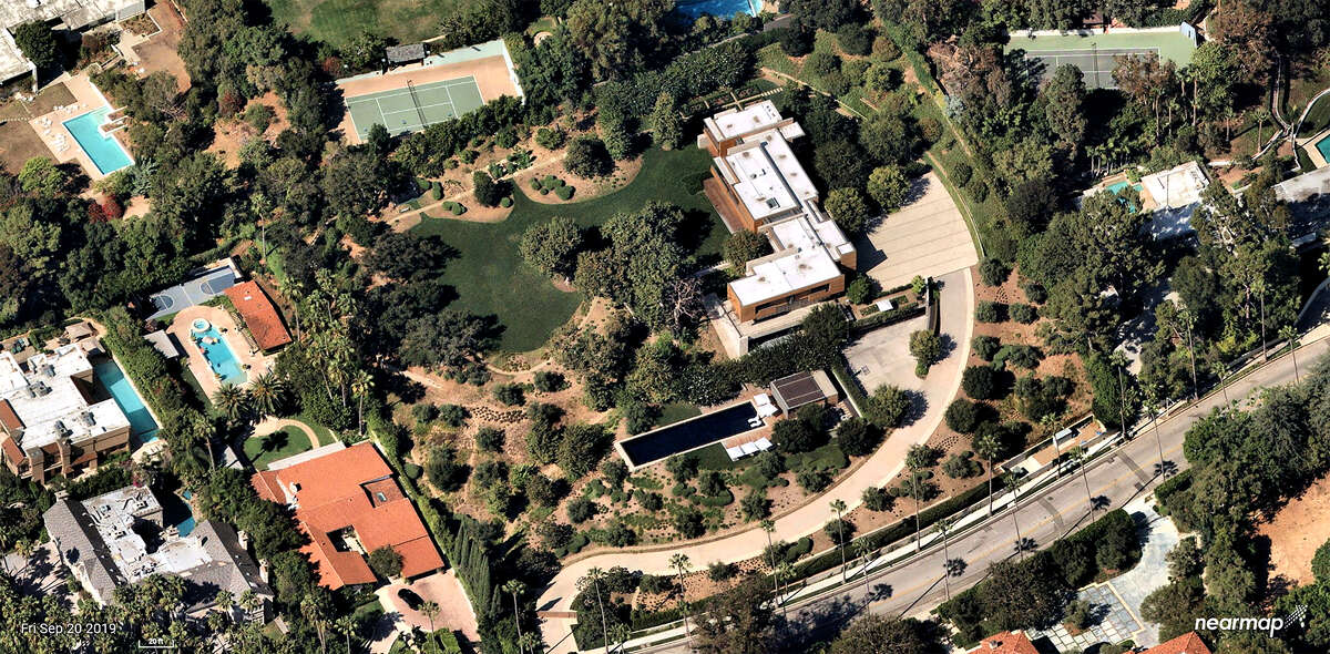 Entertainment mogul David Geffen, who set a California record earlier this year with the $165-million sale of his Beverly Hills home, paid $68 million for Olympic organizer Casey Wasserman's Beverly Hills home. (NearMap/TNS)