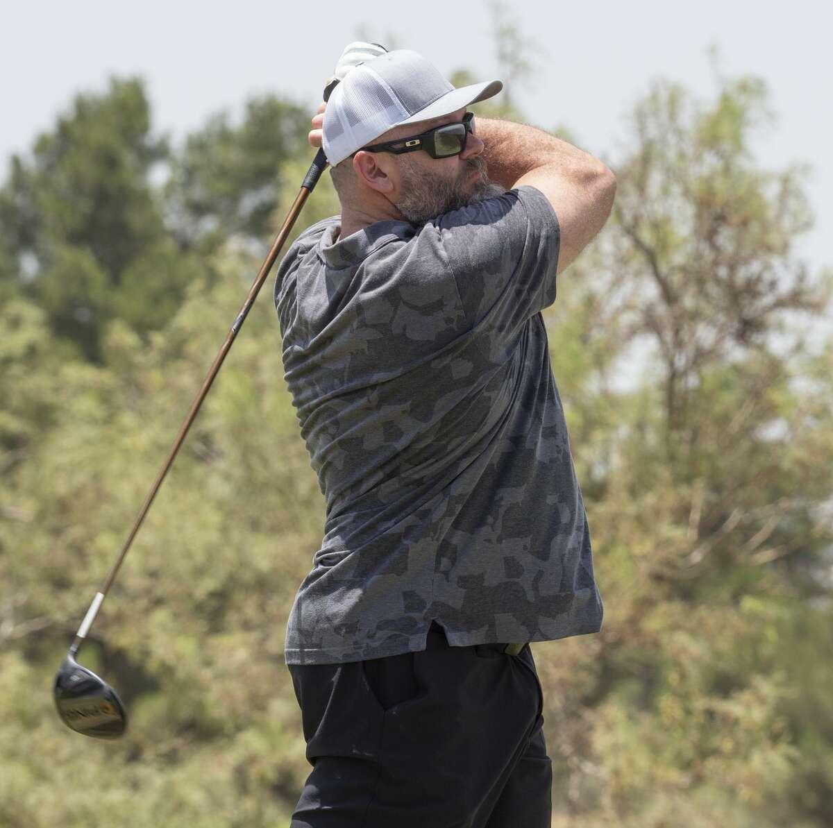 K.C. Jones tees off 06/27/2020 at Hogan Park Golf Course during the Lee Rebel Golf Tournament. Tim Fischer/Reporter-Telegram