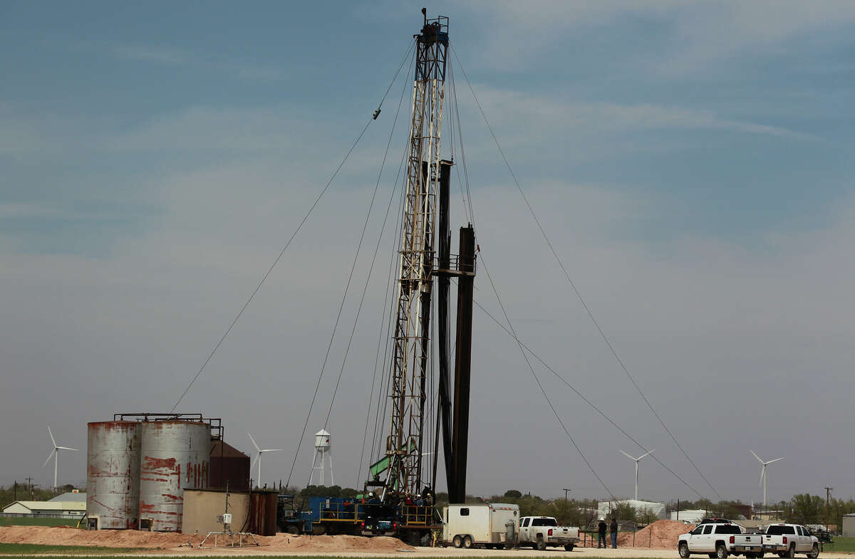 A rig is at work near Stanton. Technological advances have made the rig count an incomplete picture of the economic health of the oil and gas industry.