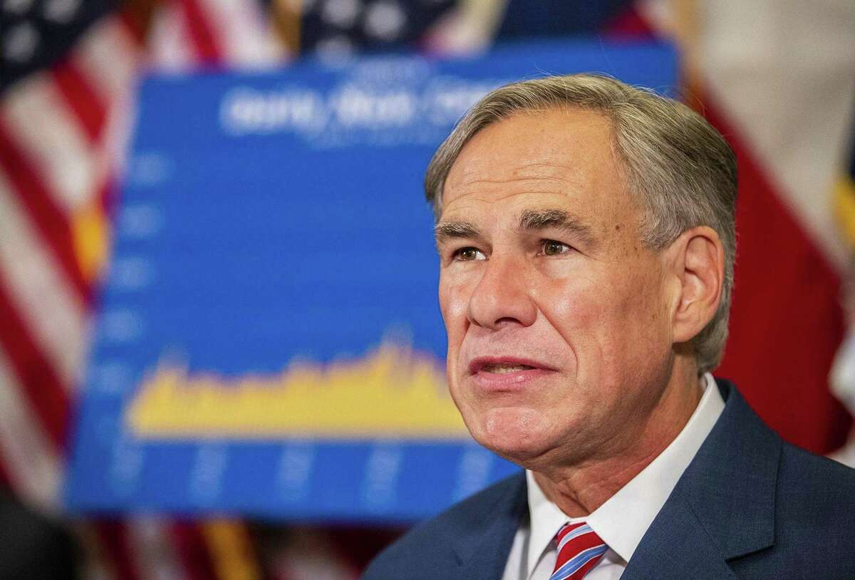 Texas Gov. Greg Abbott on Monday, June 22, 2020. Abbott on Friday closed bars, ordered restaurants to return to half capacity, and took other measures against the state's rise in coronavirus infections. (Ricardo B. Brazziell/Austin American-Statesman/TNS)