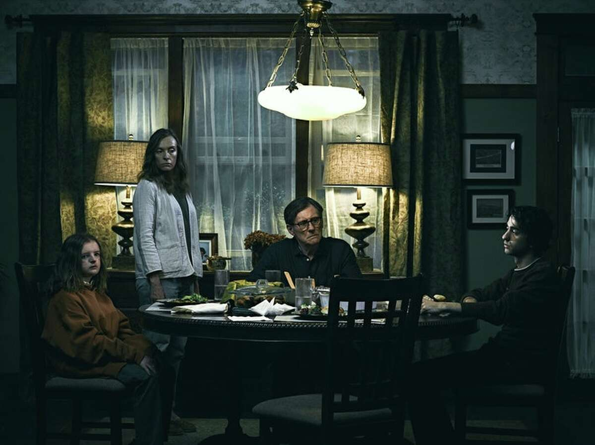 """In """"Hereditary,"""" Toni Collette's character lashes out at her son at the dinner table - the site where family tensions often come to a head."""