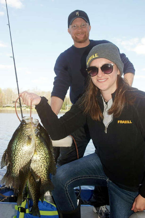 With the assistance of Mercer fishing guide Bobby Orr, Plano/Synergy National Pro Staff Coordinator Justina Whalen had little trouble landing her share of quality crappie from northern Wisconsin's famous Turtle Flambeau Flowage. Photo: Curt Hicken | For The Telegraph