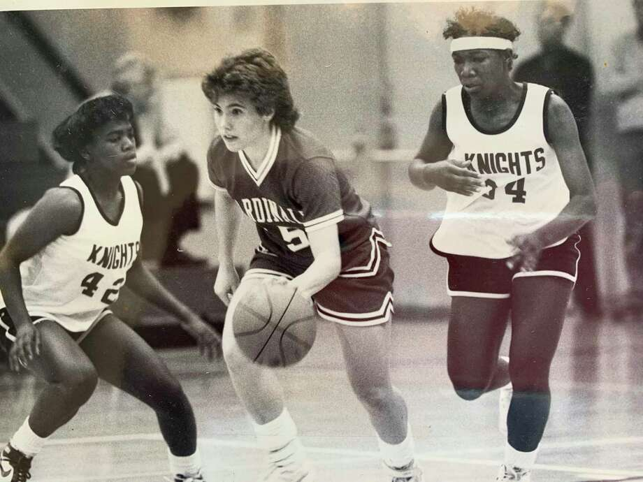 Jodi Raab, now Jodi Scovill, was a point guard for the 1986 Big Rapids basketball team, (Courtesy photo)
