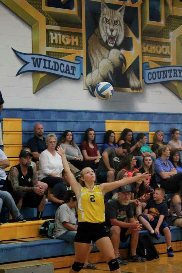 Evart's Kaylee Ladd said volleyball was her favorite sport. (Pioneer photo/John Raffel)