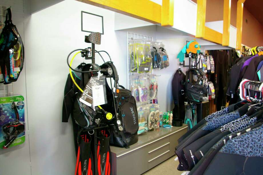 Scuba diving and snorkeling equipment are available for purchase at Dive & Glide - SCUBA Snorkel and Travel, located at 600 Cambridge St. in Midland. Paddle sport products are still offered by appointment. (Photo by Niky House)