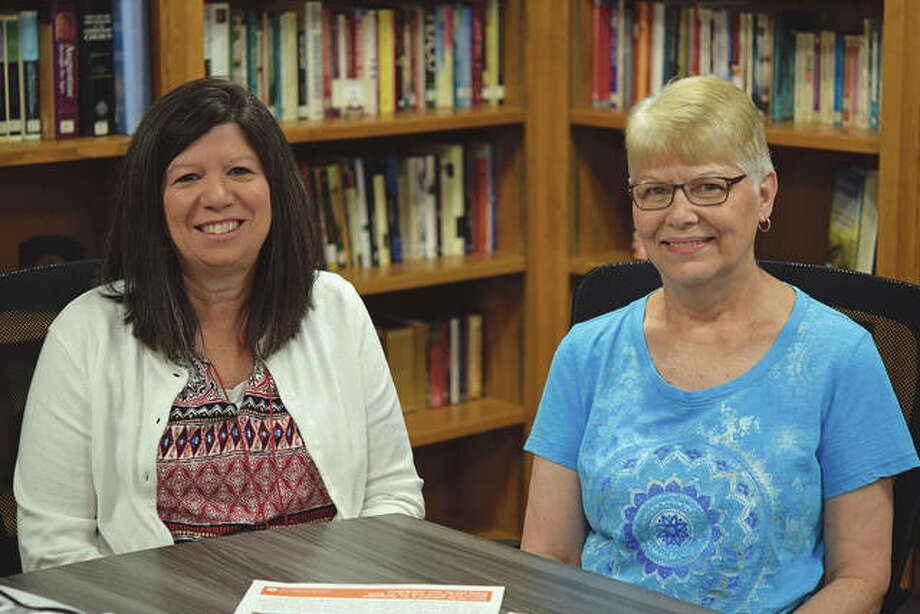 Stacy McQueen (left) and Pat Glyshaw are co-chairs of the Jacksonville Area Conference of Churches Life and Works Committee. Photo: David Blanchette | Journal-Courier