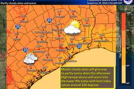 Heat is the main factor in Houston's forecast for Monday, June 29, 2020.