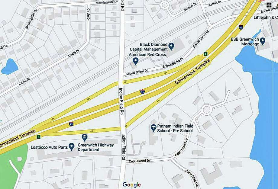 The state Department of Transportation has announced the scheduled closure and detour of the Exit 4 off-ramp on I-95 southbound in Greenwich, from 9 p.m. Tuesday, June 29, 2020 through 5 a.m. Friday, July 3, 2020. Photo: Google Maps
