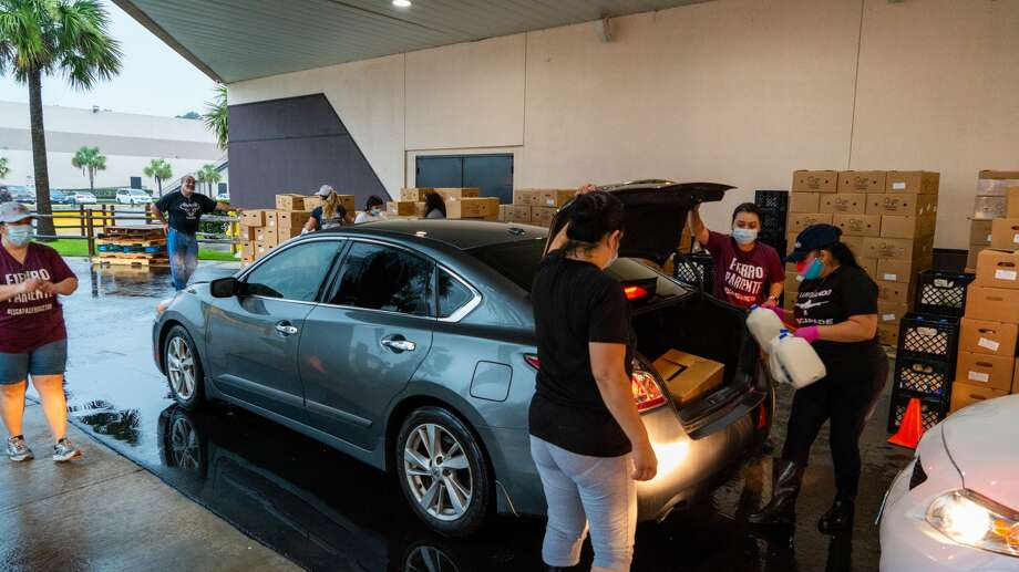Imagen Venues holds a food drive on Thursdays from 7 a.m. to 11 a.m. at 11903 Eastex Freeway. The drive will not be held on July 2. Photo: Imagen Venues