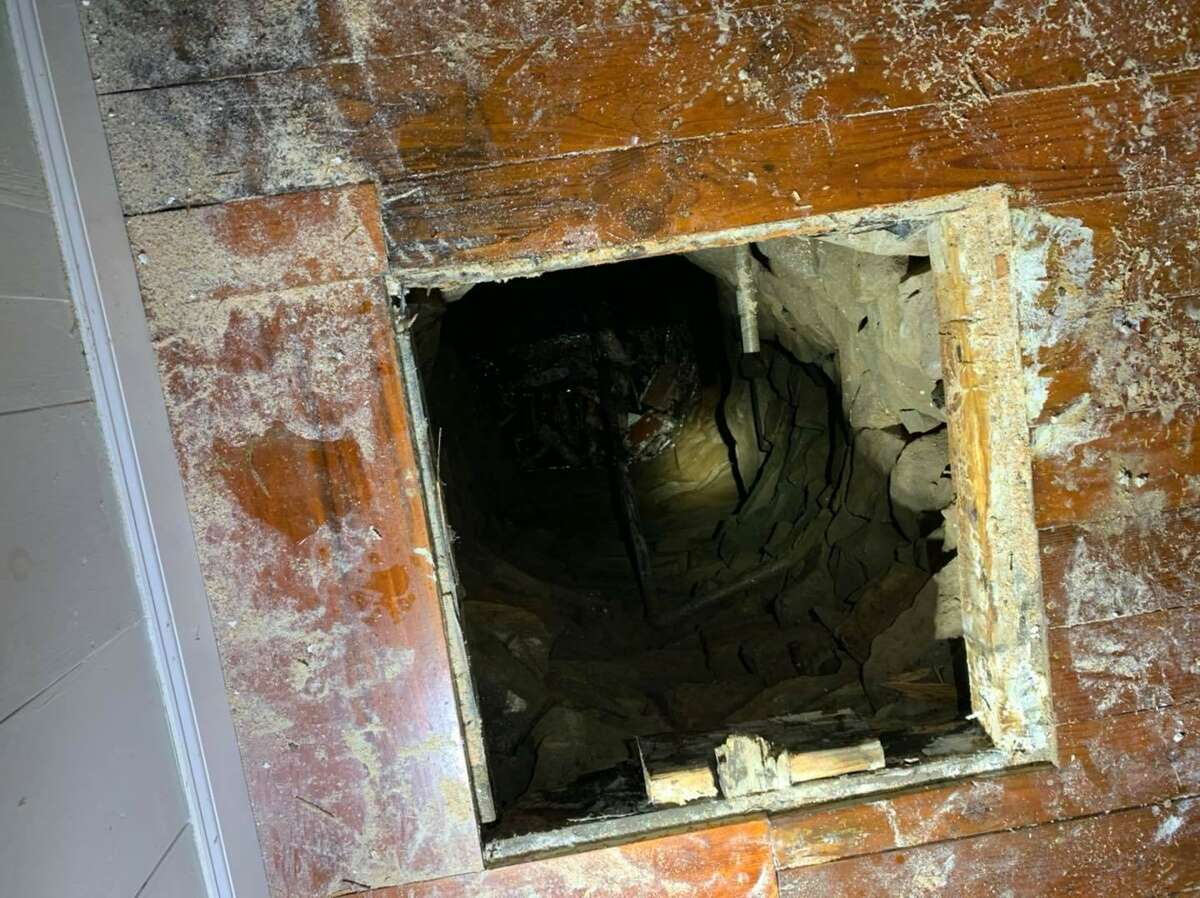 Firefighters rescued a man in who fell through the floor and into a well below a Guilford residence on June 28, 2020. The well is pictured in images posted to the Guilford Fire Department's Facebook page.